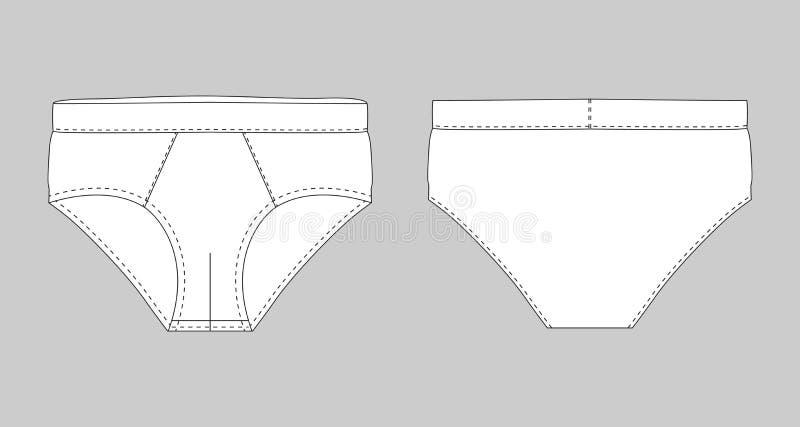 简要的裤子内衣人被隔绝的技术剪影 皇族释放例证