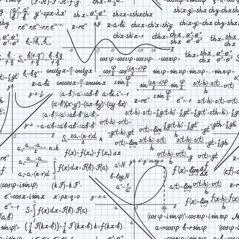 算术传染媒介无缝的样式背景笔记本 向量例证
