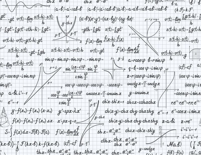 算术传染媒介无缝的样式背景笔记本 皇族释放例证