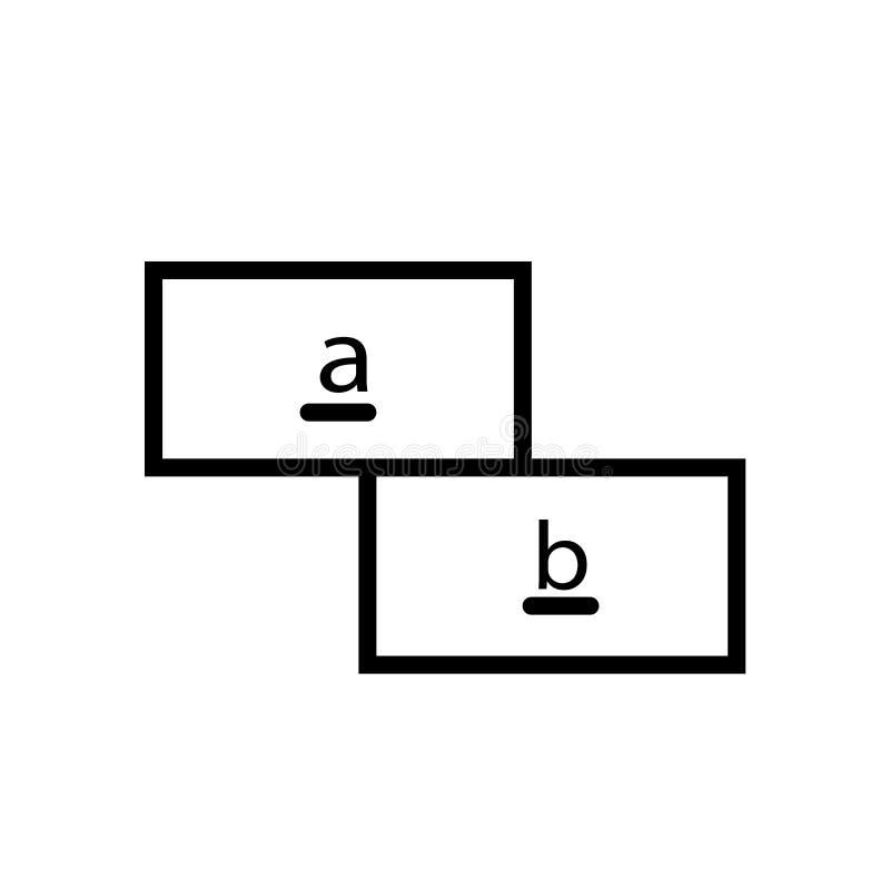 算术在白色背景隔绝的象传染媒介,算术签署,排行并且概述在线性样式的元素 库存例证