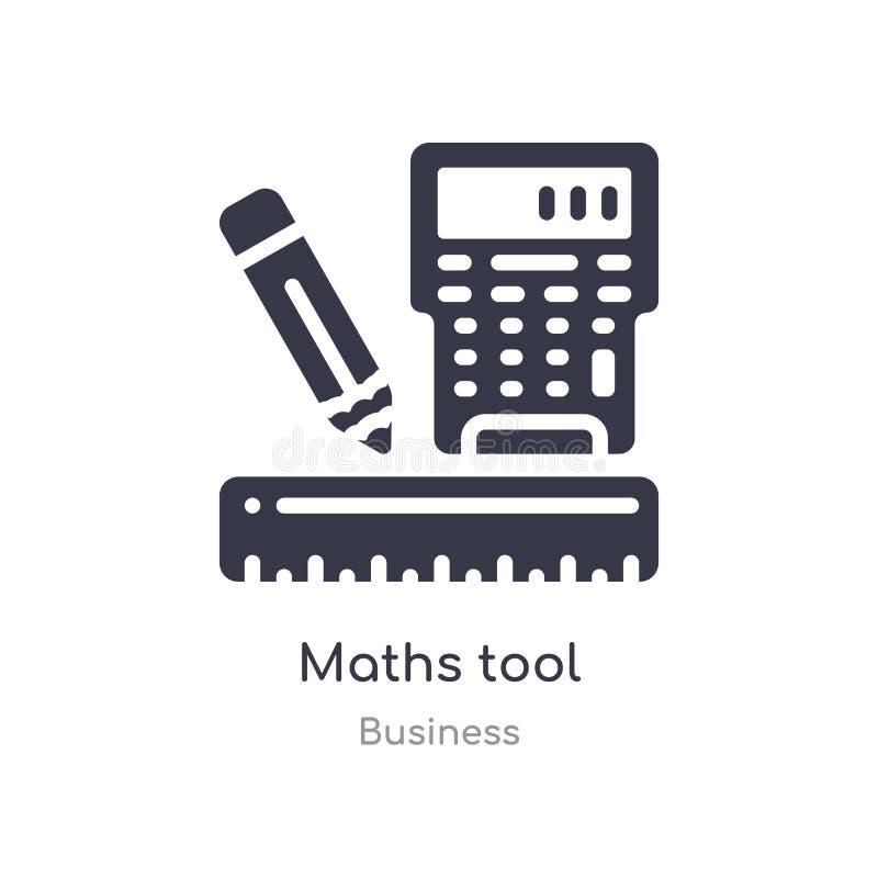 算术工具概述象 r 在白色的编辑可能的稀薄的冲程算术工具象 皇族释放例证
