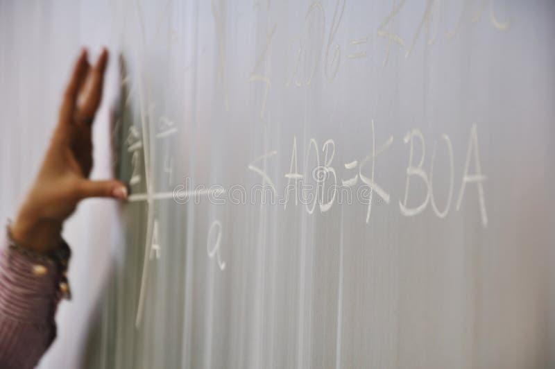 算术教学 库存照片