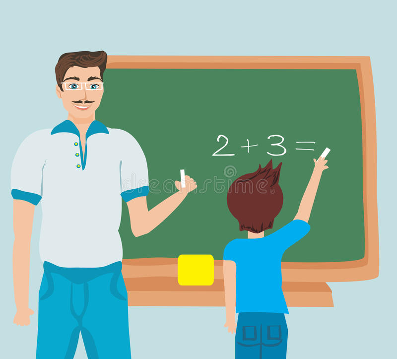 算术教育 向量例证