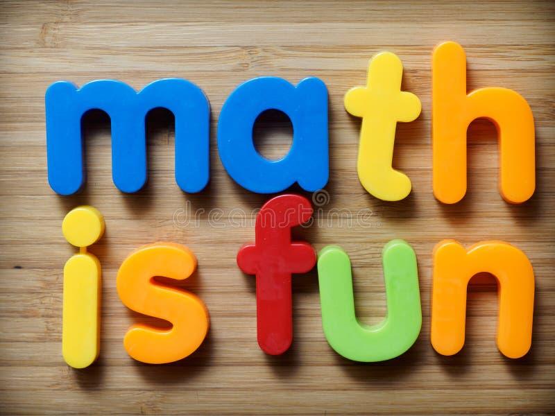 算术是乐趣概念 库存图片