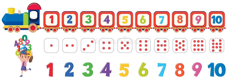 算术模子数字元素 向量例证