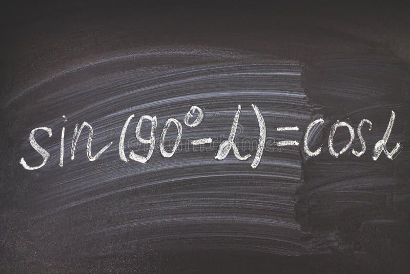 算术物理惯例和标志在黑背景 免版税库存图片