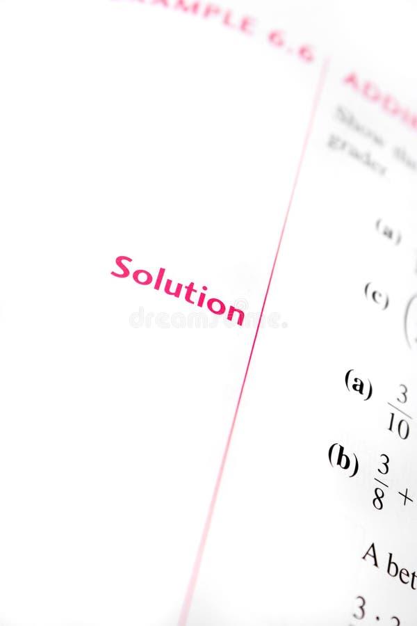 算术解决方法 免版税库存图片
