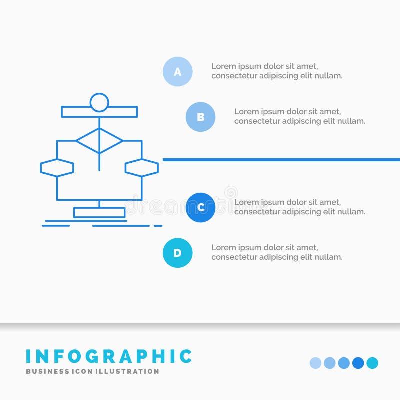 算法、图、数据、图、流程Infographics模板为网站和介绍 r 向量例证