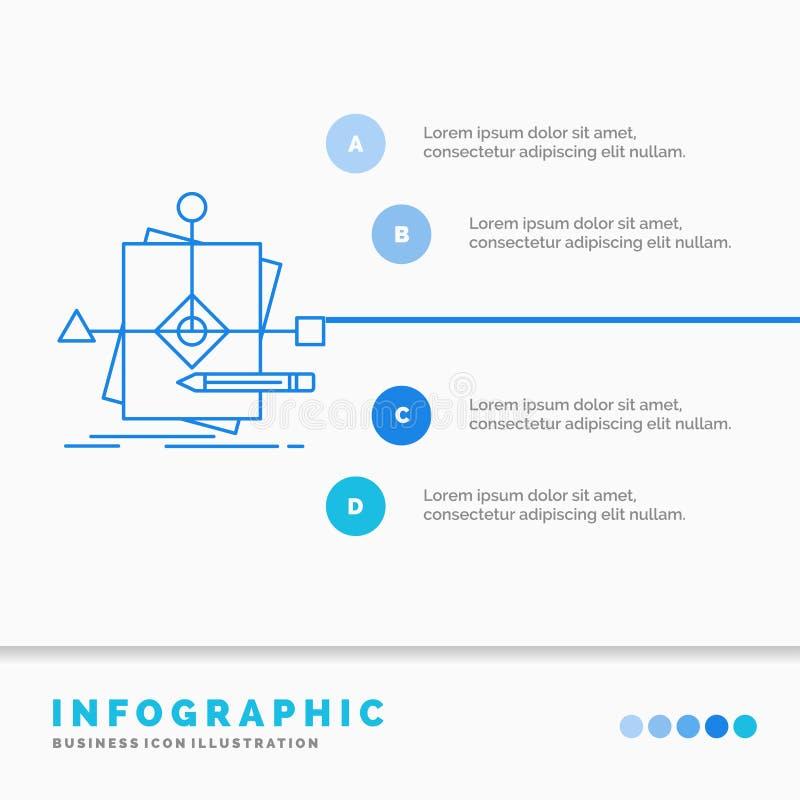 算法,事务,预言,样式、计划Infographics模板网站的和介绍 r 皇族释放例证