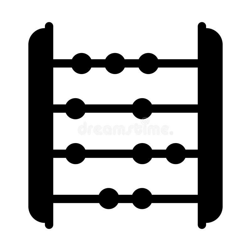 算盘象在白色背景和标志隔绝的传染媒介标志,算盘商标概念 库存例证