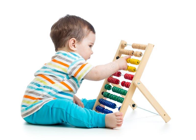 算盘婴孩使用 免版税库存图片