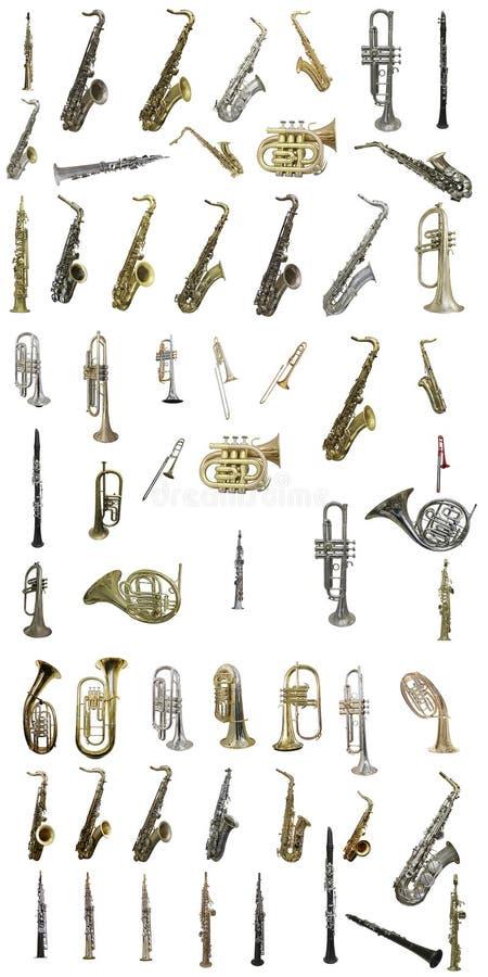 管乐器 免版税库存图片