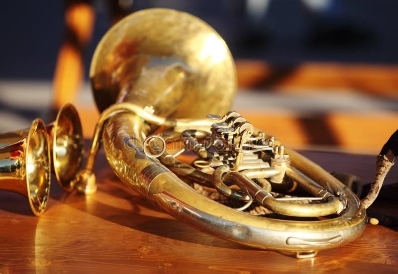 管乐器 库存图片