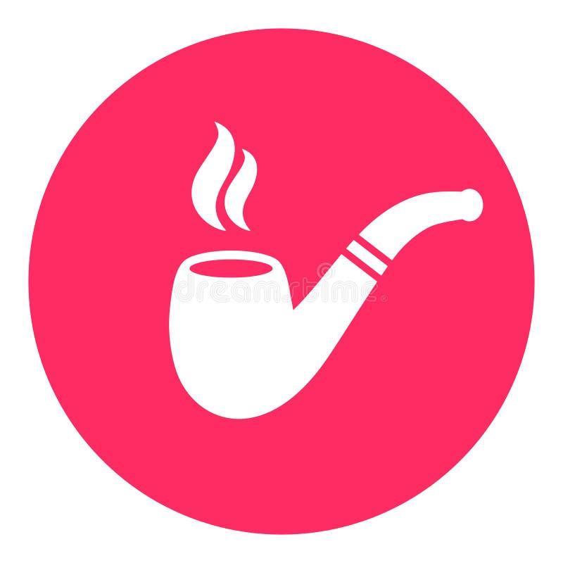 管子和烟传染媒介按钮 库存例证