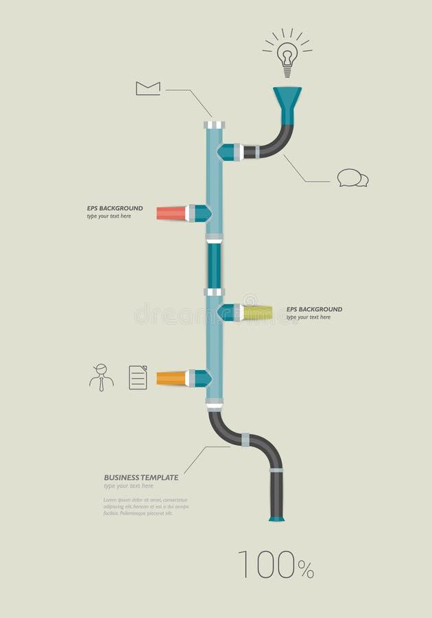 管子时间安排infographics模板 皇族释放例证