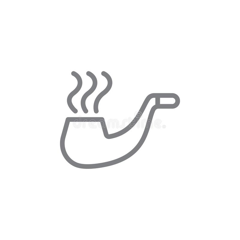 管子概述象 抽烟的活动例证象的元素 E 库存例证