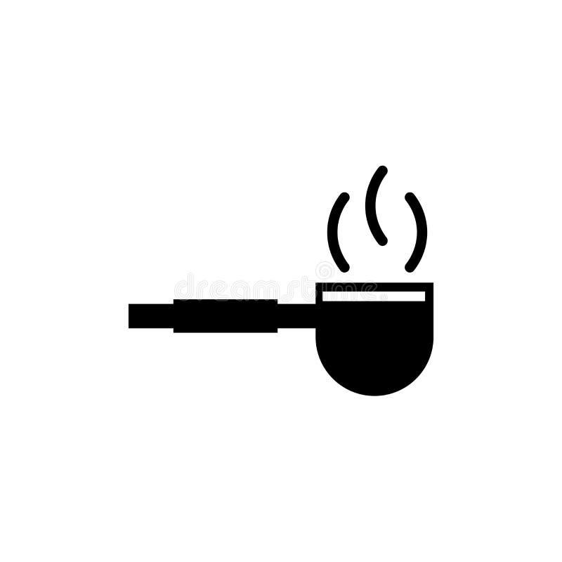 管子象在白色背景和标志隔绝的传染媒介标志,管子商标概念 皇族释放例证