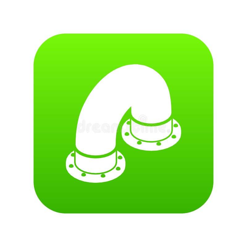 管子象绿色传染媒介 皇族释放例证