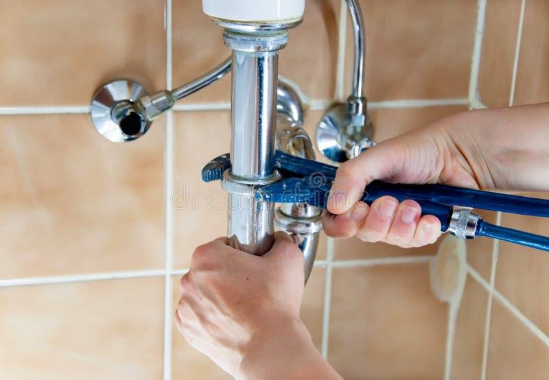 水管工 免版税库存照片