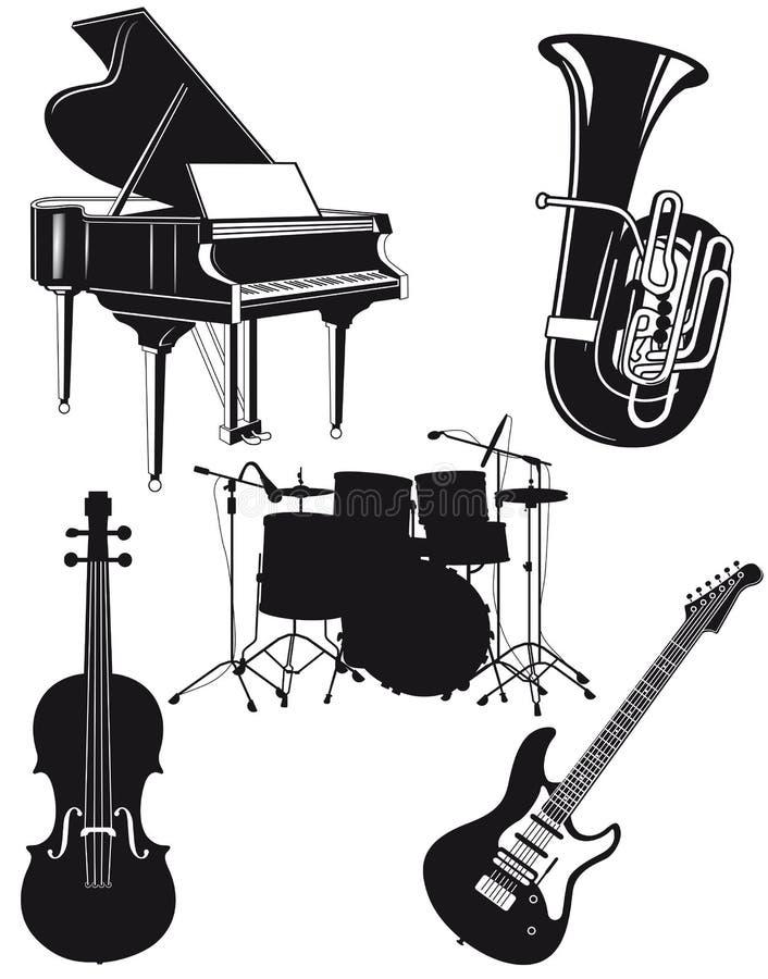 管弦乐队的仪器 库存例证