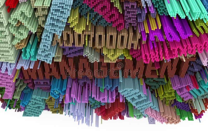 管理主题词  五颜六色的3d翻译 塑造构成 皇族释放例证