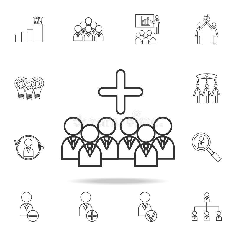 管理企业团队负责人象 详细的套队工作概述象 优质质量图形设计象 一col 向量例证
