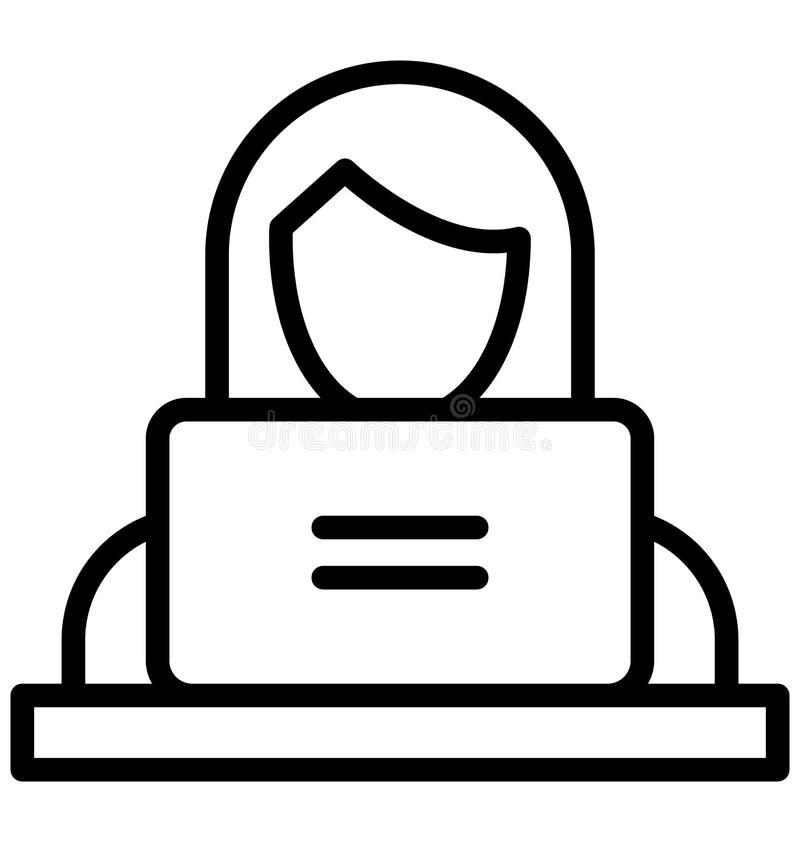管理员隔绝了可能容易地修改或编辑的传染媒介象 皇族释放例证