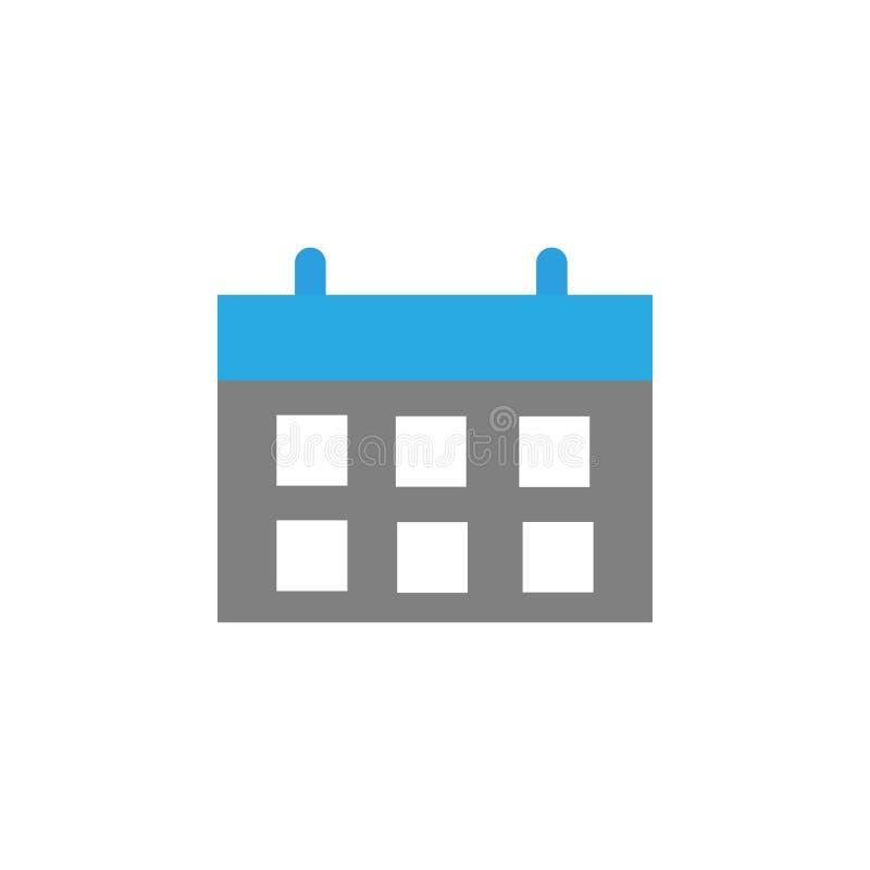 管理和日历象 流动概念和网应用程序的用户界面象的元素 详细的管理和日历 向量例证