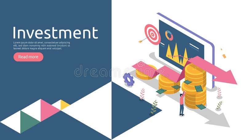 管理或回收投资概念 网上事务战略为财务分析 等量设计传染媒介例证 库存例证