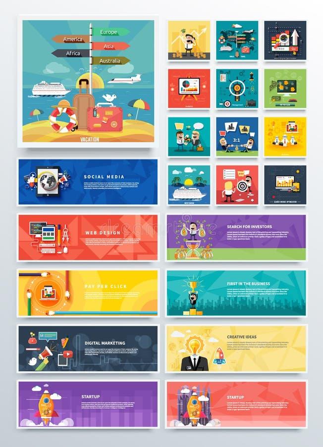 管理数字式营销srartup计划 向量例证