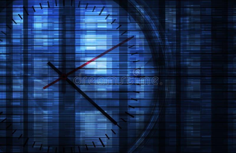 管理时间 向量例证