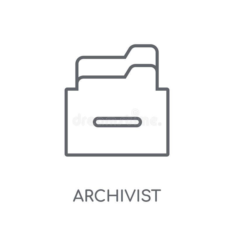 管理档案者线性象 现代概述管理档案者商标概念 皇族释放例证