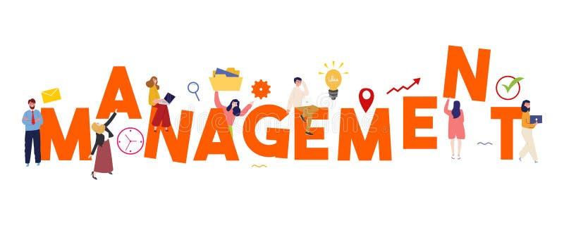 管理概念有创造性的电灯泡想法和队workng一起合作企业处理的项目,传染媒介 向量例证