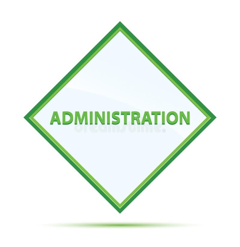 管理现代抽象绿色金刚石按钮 库存例证