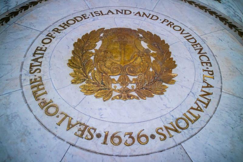管理的中心在上帝,罗德岛 免版税库存照片