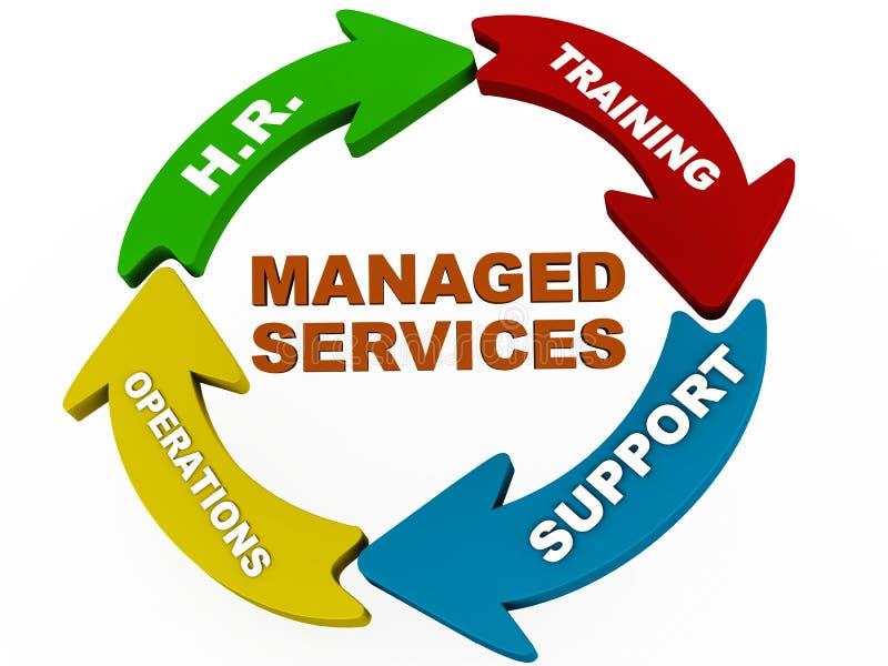 管理的服务 向量例证
