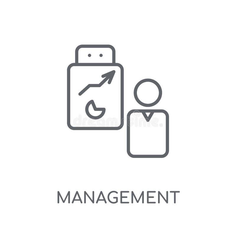管理线性象 现代概述管理商标概念o 库存例证