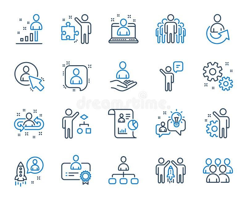 管理线象 设置企业审计、起始的战略和雇员 向量 皇族释放例证
