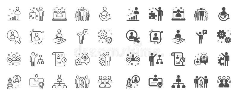 管理线象 设置企业审计、起始的战略和雇员 ?? 库存例证