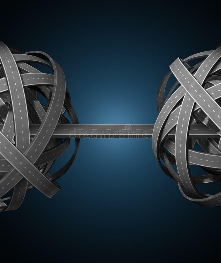 管理网络 向量例证