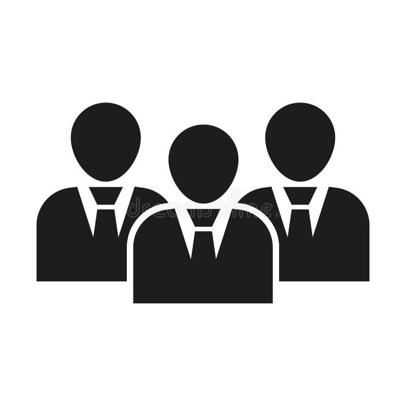 管理象 队和小组,配合,人们,联盟标志 Ui 网 徽标 标志 平的设计 阿帕卢萨马 库存例证