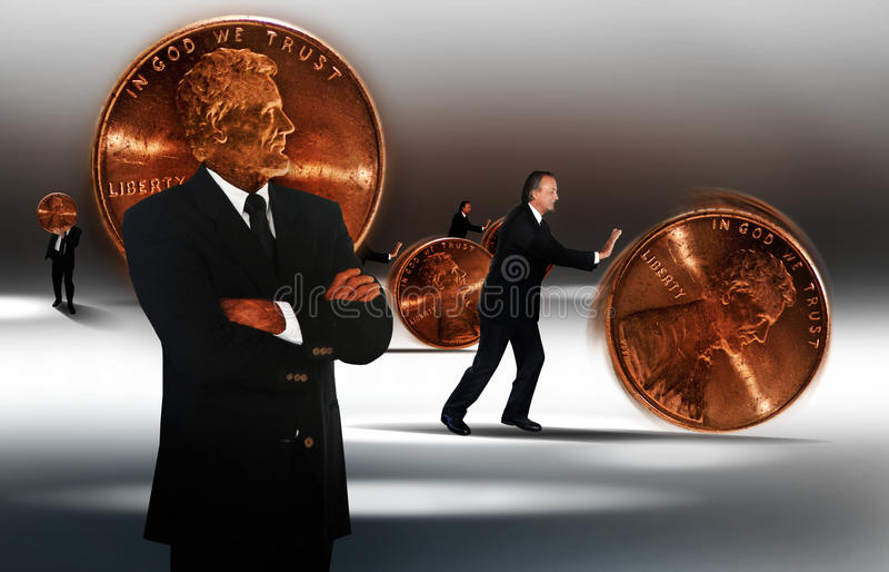管理货币 库存图片