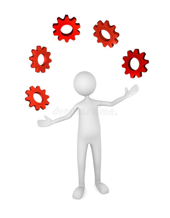 管理进程 库存例证