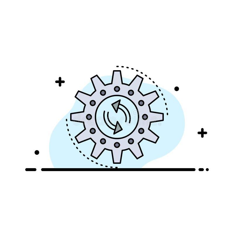 管理,过程,生产,任务,工作平的颜色象传染媒介 库存例证