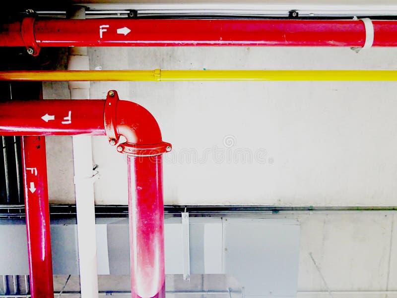 管道从里面供气 免版税图库摄影