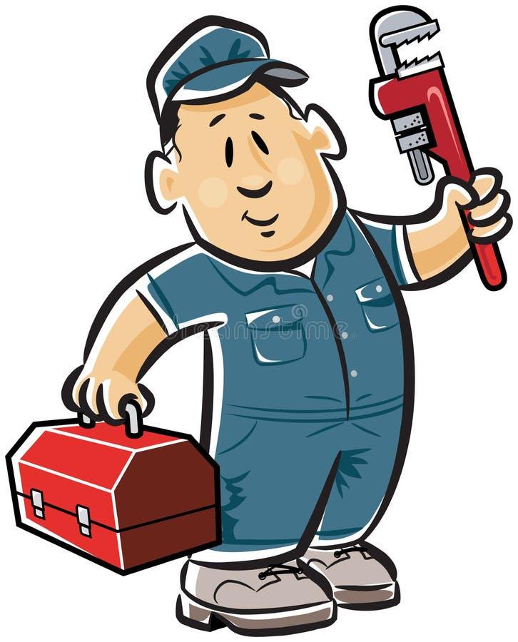 管道工专业人员 向量例证
