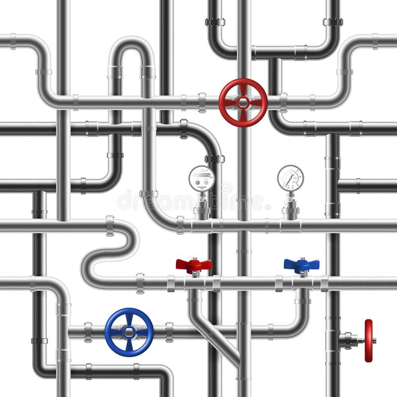 管道无缝的样式 向量例证