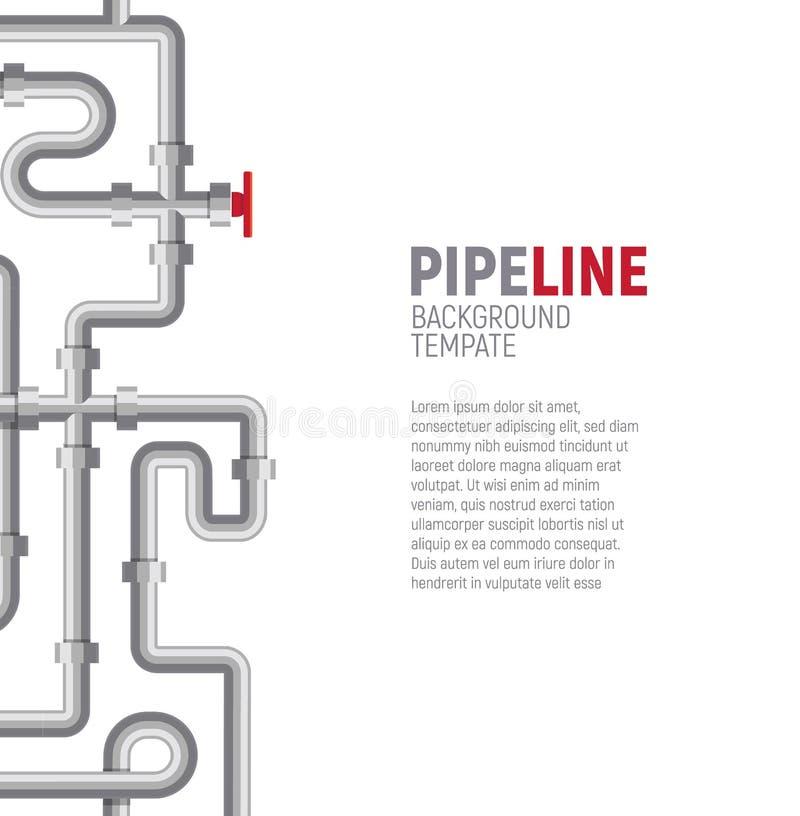 管道海报概念 管子样式,锅炉室,管道系统,测量深度横幅销售的设计模板,社会 向量例证