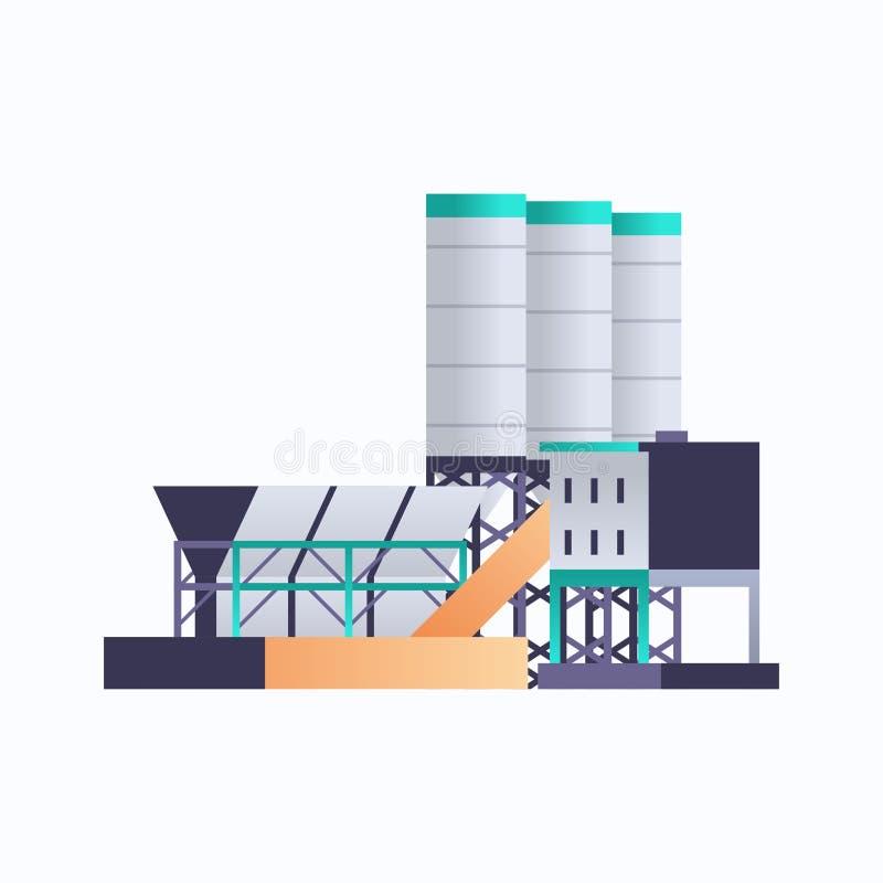 管道烟囱电站环境与能源元素油工业工厂建筑图标工业厂 皇族释放例证