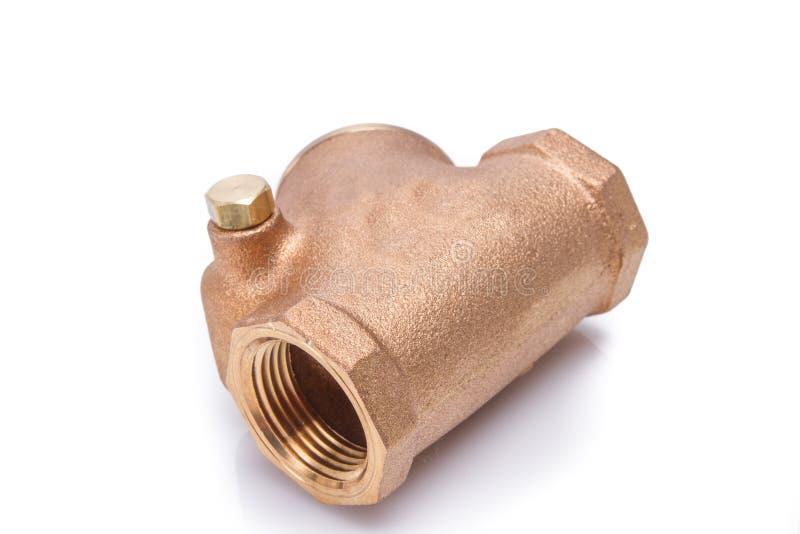 水管黄铜联接的配件。特写镜头 免版税库存图片